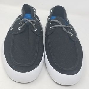 Vans Rata Vulc Black Blue Skate Sneakers Men's 6.5 NWT